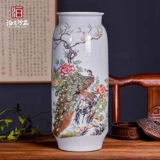 Jingdezhen ceramics TV ark porch table new Chinese style household adornment ornament dried flower vases, furnishing articles