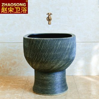 Ceramic household balcony retro mop pool toilet basin to wash the mop floor mop pool square mop pool