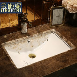 Contracted undercounter square ceramic lavabo embedded lavatory toilet small size balcony basin
