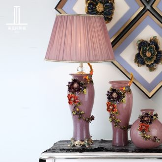 Luxury colored enamel porcelain lamp sitting room lamps and lanterns of bedroom the head of a bed classical creative type villa lighting atmosphere