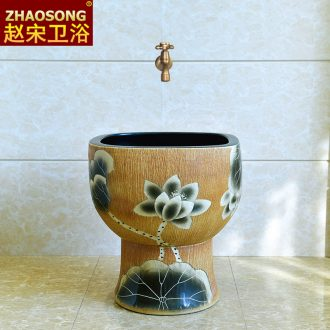 Wash the mop pool of song dynasty ceramic floor balcony to toilet basin mop pool kitchen sink mop pool trumpet