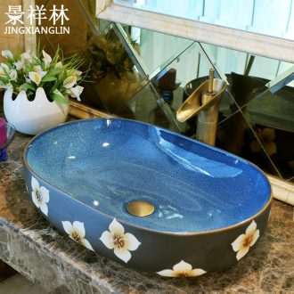 Basin ceramic art Basin of oval table Europe type restoring ancient ways more Basin Basin bathroom hand wash Basin