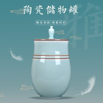 Caddy fixings ceramic large half jins to storage tanks receive a pot of pu 'er tea, green tea POTS moistureproof household