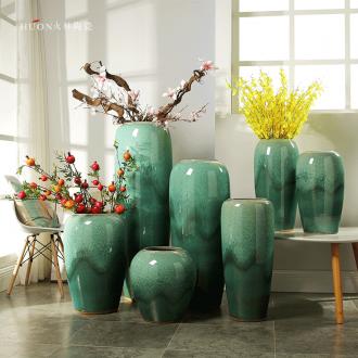 European vase furnishing articles sitting room ceramic desktop big vase creative wedding present to send home decoration girlfriends - 583504629295