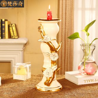 Vatican Sally 's restoring ancient ways continental candlestick ceramic furnishing articles of key-2 luxury living room home decoration show decorations
