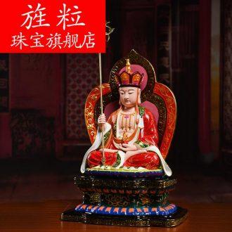 Bm ceramic Buddha god of wealth to that occupy the home furnishing articles 16 inches vajrasana perhaps earth treasure bodhisattva - 110 - a