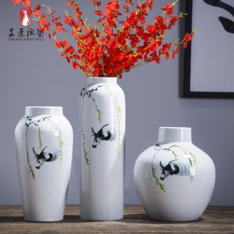Jingdezhen ceramic vases, I and contracted white tea table table place adornment flower arranging wide expressions using porcelain vase
