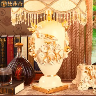 Luxury european-style ceramic lamps chandeliers married marriage room desk lamp sitting room lamps and lanterns of bedroom the head of a bed restoring ancient ways furnishing articles