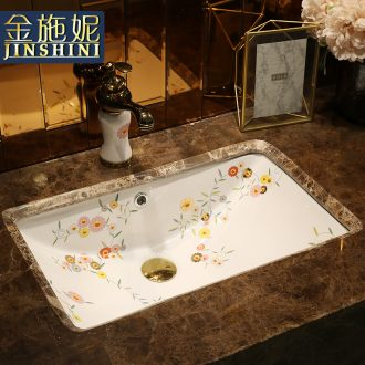 Ceramic undercounter embedded the sink basin oval household undercounter lavatory toilet wash basin