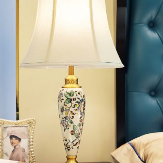 American ceramic desk lamp elegant rural art deco I and contracted hand - made all copper lamps and lanterns of the sitting room the bedroom of the head of a bed