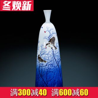 Jingdezhen ceramics hand - made Chinese blue and white porcelain vase furnishing articles of new Chinese style porch decoration large living room