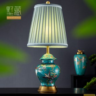 American enamel lamp decoration ceramics art of carve patterns or designs on woodwork hand - made all copper modern retro delicate sitting room the bedroom of the head of a bed