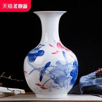 Jingdezhen ceramics hand - made color bucket vase wine porch home decoration sitting room TV ark, furnishing articles