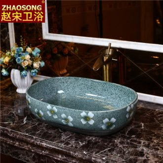 Northern wind restoring ancient ways on the ceramic basin on the oval toilet lavabo large lavatory household balcony