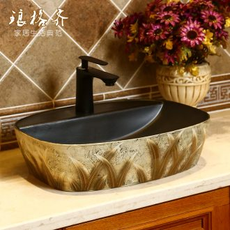 Archaize creative hand washing basin of Chinese style restoring ancient ways of ceramic plate toilet stage basin square art basin