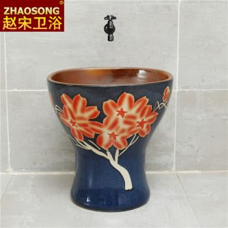 Nordic retro ceramic one balcony mop pool square mop pool household mop basin sink is suing the toilet