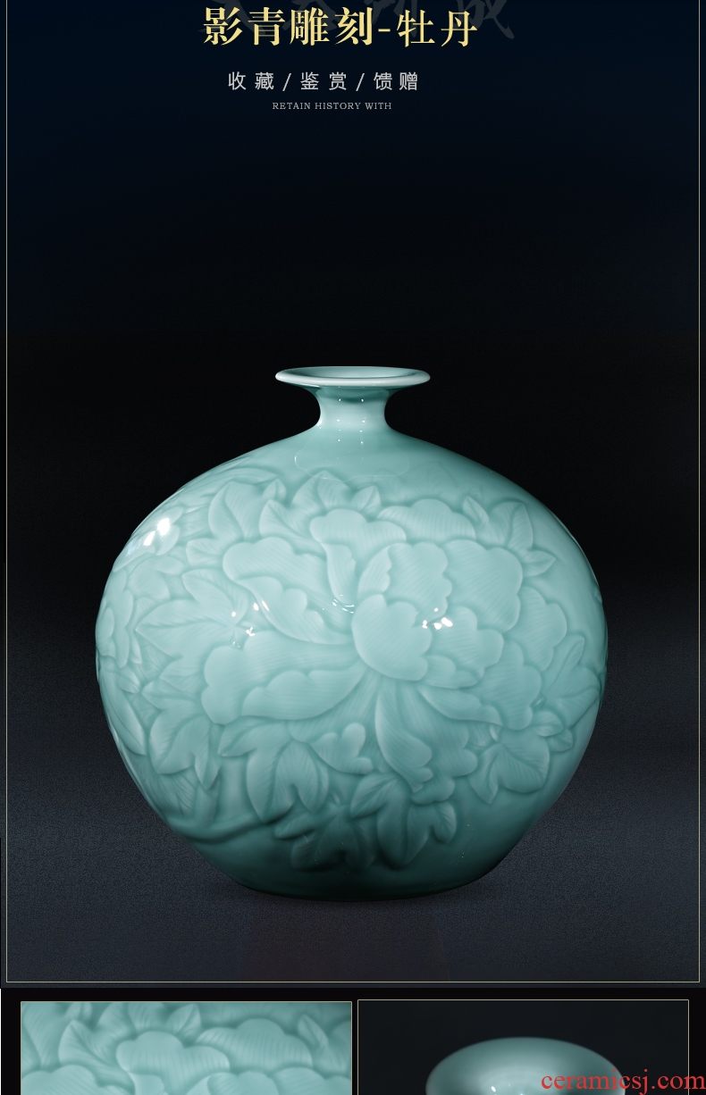 Murphy 's hand to knead relief ice to crack the ceramic vase large modern furnishing articles contracted sitting room TV cabinet decorative flower arranging device - 603672679863