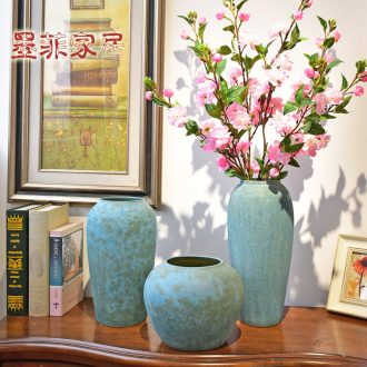 Murphy classical jingdezhen ceramic hydroponic vase is placed the new Chinese style household living room TV cabinet soft decoration