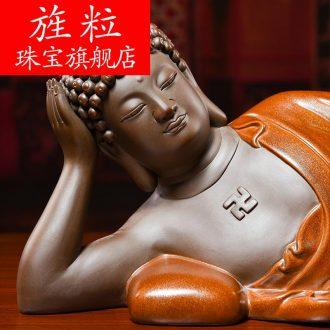 Bm dehua ceramic Buddha ceramics handicraft of Buddha furnishing articles furnishing articles porcelain carving H10-31 sleeping Buddha