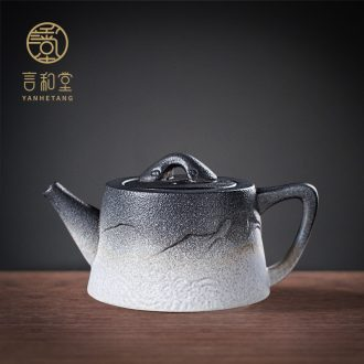 And hall And the line of ceramic teapot household contracted teapot office small single pot of single kung fu tea set