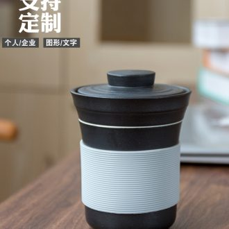 Office tea cups with cover ceramic household hot water proof glass filter separator gift boxes custom logo