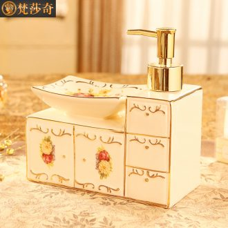 Vatican Sally 's 2018 new European toilet bathroom ceramic soap box soap box creative hand washing liquid bottle