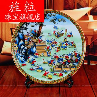 Continuous grain of jingdezhen ceramic fashion figure adornment porcelain home decoration handicraft furnishing articles hanging dish the ancient philosophers