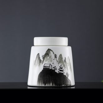 Lamp act the role ofing furnishing articles form a complete set of new Chinese style ceramic vases, cut the modern minimalist art hand - made decorative landscape painting