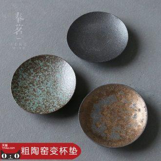 Serve tea crude after getting ceramic cup mat Japanese insulating mat cup mat cup kung fu tea ceremony with zero saucer