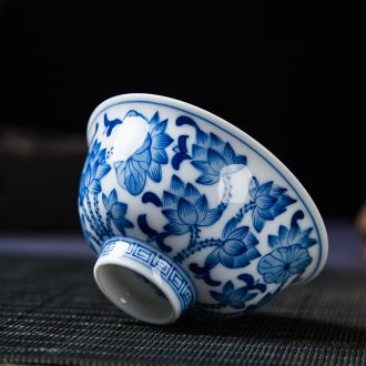 Hand - made porcelain cups sample tea cup ceramic tea set Chinese personal cup single cup tea cup master cup by Hand