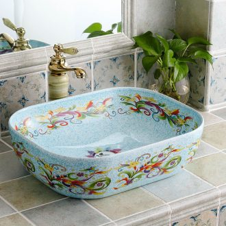 Square I and contracted ceramic European household sanitary toilet stage basin bathroom art for wash basin basin