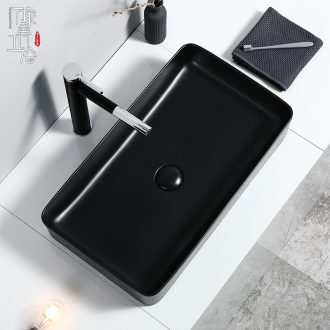 Basin of northern Europe on the ceramic square black contracted household european-style balcony toilet lavabo lavatory basin