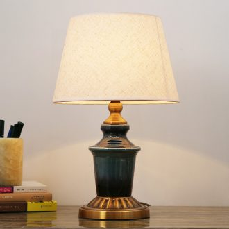 Married married the desk lamp of bedroom the head of a bed lamp American creative living room lamp light the luxury of ceramic cloth art adornment lamps and lanterns