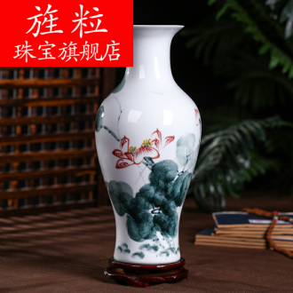 Continuous grain of jingdezhen ceramics hydroponic lucky bamboo vase, home furnishing articles set creative small ornament