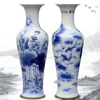 Jingdezhen blue and white porcelain from year to year for ceramic vase of large living room opening large furnishing articles housewarming gift