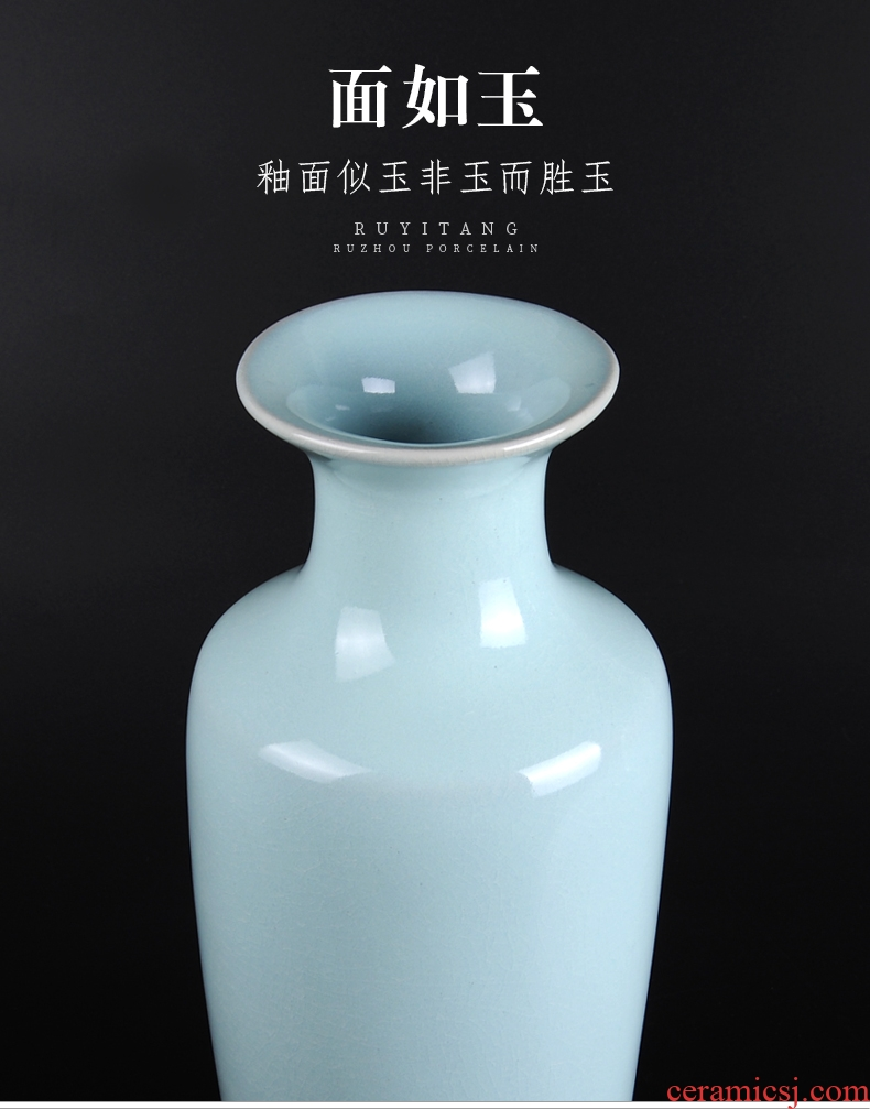 Jingdezhen ceramic creative dried flower living room floor decoration flower vase is placed large flower arranging I and contracted - 536609714284
