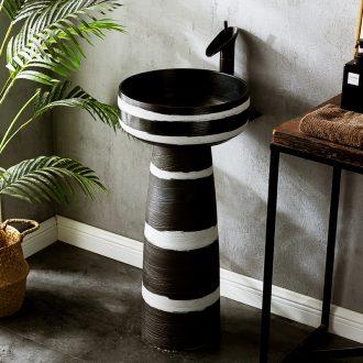 Hand - made hotel pillar basin sink basin integrated vertical lavatory ceramic floor garden is suing the column basin