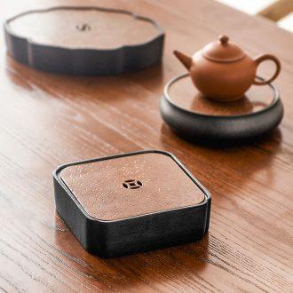Qiu childe Japanese pot bearing ceramic water dry plate of kung fu tea tea tray mat tray filling pot a pot of tea tray