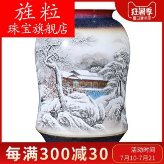 Cn jingdezhen ceramics hand-painted pastel big vase collection of new Chinese style household and friends sitting room adornment is placed through the snow