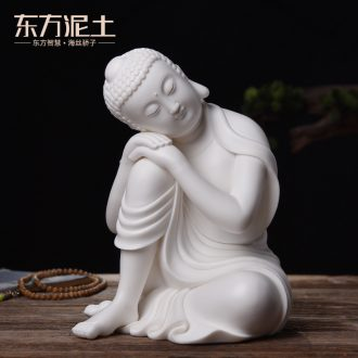 The east mud creative Chinese style household indoor ceramic Buddha zen furnishing articles study porch desktop ornaments
