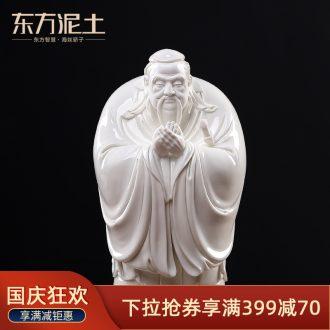 Clay ceramic Confucius study desktop Oriental decorative furnishing articles dehua porcelain sculpture art/meng-gua