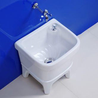 Ceramic mop pool floor balcony high large wash mop mop mop pool trough dou single drive