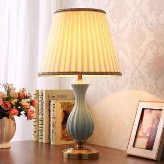 American ceramic desk lamp light sweet romance of bedroom the head of a bed contracted creative wedding celebration of the study of contemporary sitting room adornment