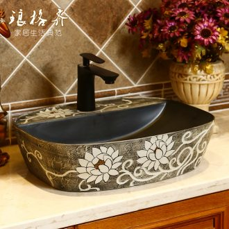 Ceramic art stage basin of Chinese style restoring ancient ways is creative on the sink single basin of archaize home bathroom sinks