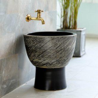 The Mop pool archaize handicraft in jingdezhen ceramic household balcony retro toilet size the Mop bucket