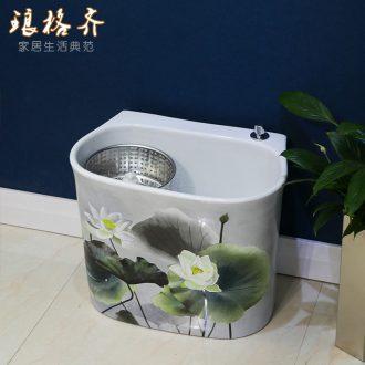 Jingdezhen ceramic art hand - made the mop pool basin bathroom balcony mop mop pool
