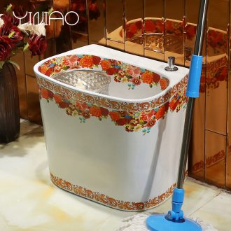 Ceramic balcony for wash basin trough large mop mop pool mop pool toilet small household floor mop pool