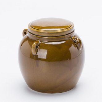 Earthenware jar pickle jar jar of pickles ceramic seal tank kitchen storage tank salt pot seasoning jar of household
