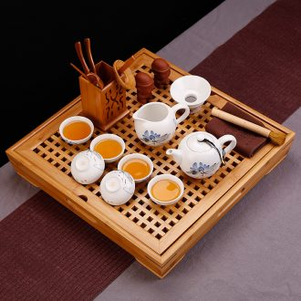 Simple kung fu tea teapot ceramics suit small tea tray mini household contracted and contemporary tea ceremony of Chinese style