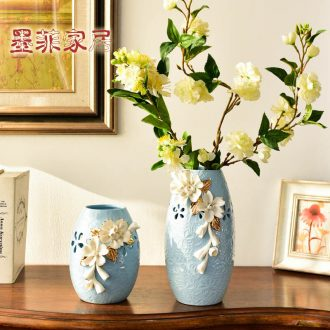Murphy, contemporary and contracted ceramic table hand knead vase Nordic the sitting room porch simulation flower art flower arranging, furnishing articles